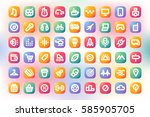 simple modern colorful icons.... | Shutterstock .eps vector #585905705