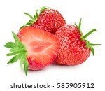 strawberry isolated on white... | Shutterstock . vector #585905912