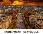 paris  france   champs elysees... | Shutterstock . vector #585909968