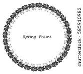 spring frame made up of grey...   Shutterstock .eps vector #585910982
