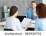 job interview concept. human...   Shutterstock . vector #585930752