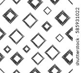 seamless vector geometrical... | Shutterstock .eps vector #585931022