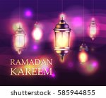 ramadan kareem beautiful... | Shutterstock .eps vector #585944855