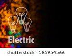 abstract circular bokeh... | Shutterstock . vector #585954566