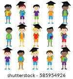 collection of cute and... | Shutterstock .eps vector #585954926