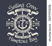 sailing marine  typography  tee ... | Shutterstock .eps vector #585955838