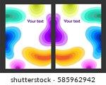 fluid colors abstract vector... | Shutterstock .eps vector #585962942