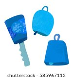 three different cowbell for... | Shutterstock .eps vector #585967112