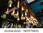 vintage edison lidht bulb ... | Shutterstock . vector #585970832