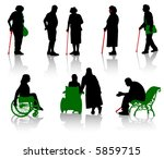 silhouette of old people and... | Shutterstock .eps vector #5859715
