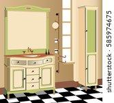 bathroom design bathroom icon ... | Shutterstock .eps vector #585974675