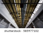 an old warehouse roof | Shutterstock . vector #585977102