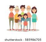 happy family portrait | Shutterstock .eps vector #585986705