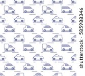 pattern children's cars | Shutterstock .eps vector #585988346