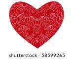 red heart   Shutterstock .eps vector #58599265