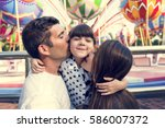 family holiday vacation... | Shutterstock . vector #586007372