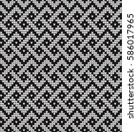 vector knitted geometrical... | Shutterstock .eps vector #586017965
