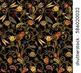 seamless pattern in ethnic...   Shutterstock .eps vector #586020032