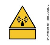 radio frequency radiation sign... | Shutterstock .eps vector #586020872