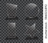 set of realistic transparent... | Shutterstock .eps vector #586021892