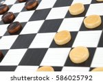 checkers game | Shutterstock . vector #586025792