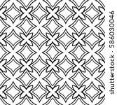 seamless geometric line floral... | Shutterstock .eps vector #586030046