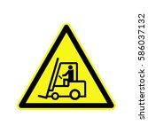 forklift. truck driving   Shutterstock .eps vector #586037132