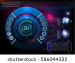 hud background outer space.... | Shutterstock .eps vector #586044332