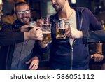 craft beer booze brew alcohol... | Shutterstock . vector #586051112