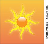 vector image of the sun on an... | Shutterstock .eps vector #58606486