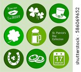 collection  st. patrick's day... | Shutterstock . vector #586069652