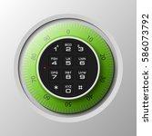 vector safe. strongbox icon.... | Shutterstock .eps vector #586073792