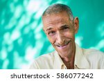 real cuban elderly people and... | Shutterstock . vector #586077242