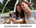 happy mother and daughter in... | Shutterstock . vector #58608010