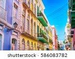 puerto rico. san juan.... | Shutterstock . vector #586083782
