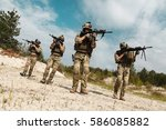 fireteam of us army rangers in...
