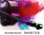 abstract digital painting of ... | Shutterstock . vector #586087328