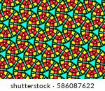 a hand drawing pattern made of... | Shutterstock . vector #586087622