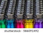 lighter were placed in a...   Shutterstock . vector #586091492