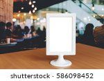 label the blank menu frame on a ... | Shutterstock . vector #586098452