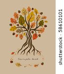 Stylized Autumn Oak
