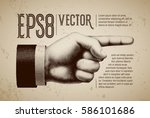 Vector Hand With Pointing...