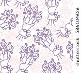 vector seamless pattern with... | Shutterstock .eps vector #586104626