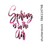 spring calligraphy card.... | Shutterstock .eps vector #586114748