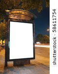 bus stop at night. blurred... | Shutterstock . vector #58611754