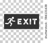 emergency exit vector icon.... | Shutterstock .eps vector #586131638