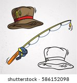fishing cap isolated - stock vector
