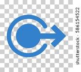 logout vector icon.... | Shutterstock .eps vector #586154522