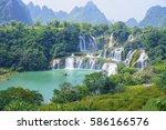 guangxi detian cross border... | Shutterstock . vector #586166576