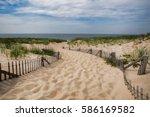 Empty Pathway To The Beach On ...